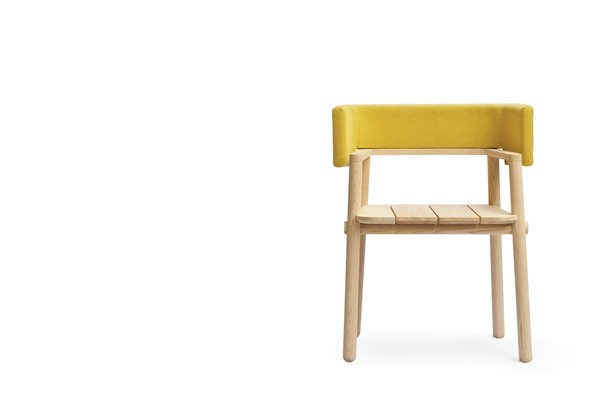 The new Arms chair premiered last month during Milan Design Week.
