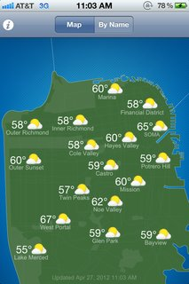 Friday Finds 04.27.12 - Photo 3 of 3 - The S.F. Climates app tackles the weather variations in the City by the Bay.