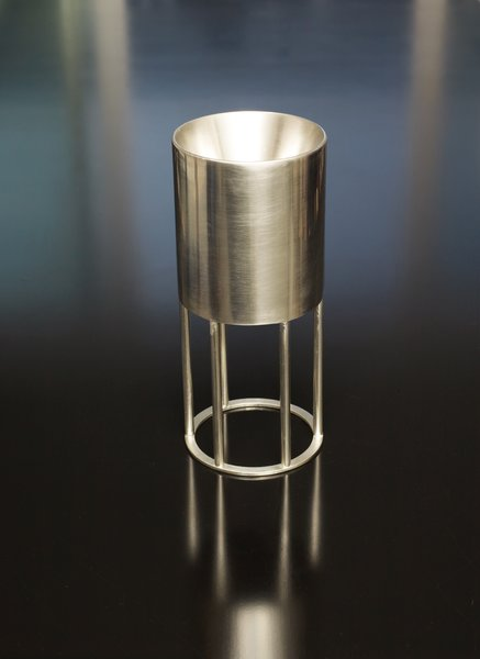 Kiddush cup: Holds the ceremonial wine over which the kiddush blessing is recited.