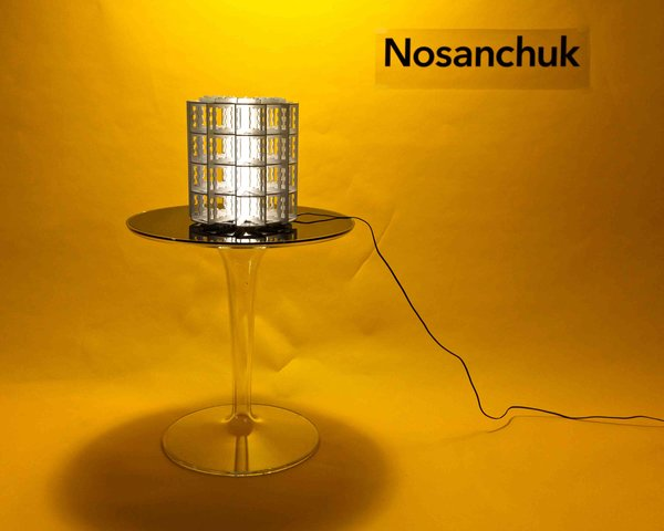 New York-based designer David Nosanchuk has created a new edition to his N1R series of custom table, floor, wall, and ceiling lamps. The lamps can be fabricated in an unlimited range of sizes (from ten inches to ten feet tall) for indoor and outdoor use in an a variety of materials including acrylic, metal, paper, and glass; illuminated by LED sources. Digitally fabricated, the linear expression of the lamps connects generative two-dimensional designs to the built product, defining a spatially complex form which is both scalable and scale less. David is currently rehabilitating a Gwathmey house in the Hamptons and has a new line of rugs out with Stark.