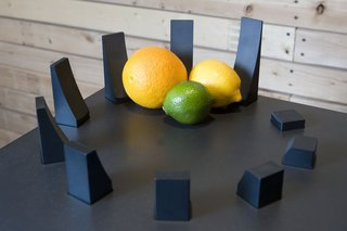 """Henge,"" a deconstructed fruit bowl."