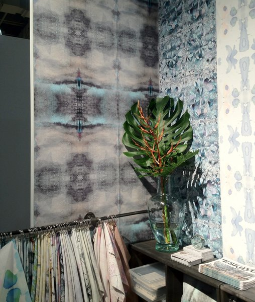 """Organic, hand-painted wallpaper is still going strong in many design quarters. This range by Eskayel, designed by Shanan Campanaro, also comes in an eco-friendly contract version, made of 31% post-consumer recycled content with a Class """"A"""" fire rating and low VOC emissions."""