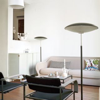 Hayon and his wife, photographer Nienke Klunder, and their son, Tys, have filled their home with many of his own designs, including the Bardot sofa for Bernhardt Design and the 22 chair for Ceccotti and mint-colored armoire for Bisazza Bagno.
