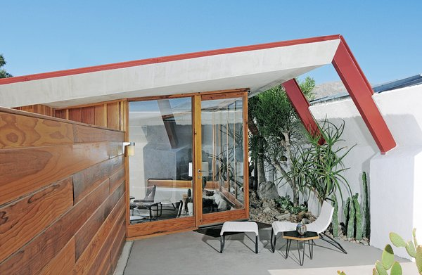 Each of the four units has a private patio.