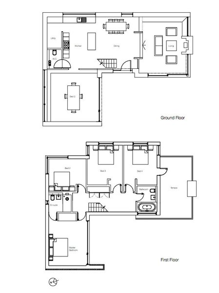 The house's plans.