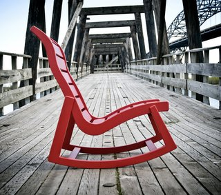 A collaboration with Loll yielded this outdoor rocker.