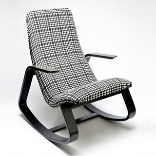 Rapson Rockers: A Classic is Reborn - Photo 3 of 4 - Here's the rocker covered in Verner Panton–designed fabric.