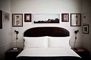 We could not get over the array of artwork (and framing styles!) shown on the guest room walls. The creative director of be-pôles has been collecting vintage art books for over two decades, so much of what is framed in The NoMad Hotel are reproductions from those books: 19th-century correspondence, 20th-century travel collectibles, and contemporary photography.
