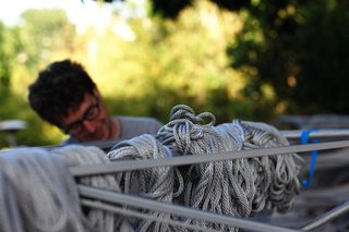 The Making of Screenplay: Part 10 - Photo 2 of 8 - Managing 25 bundles of rope per bay. Photo by Clifford Ho.