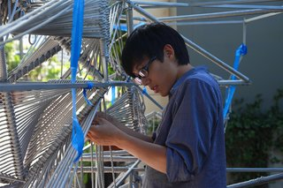 The Making of Screenplay: Part 10 - Photo 4 of 8 - Our new intern hard at work. Photo by Clifford Ho.