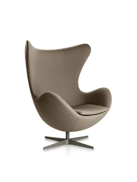 "The Egg Chair, another Arne Jacobsen design—this one from 1958—was originally created for the Royal Hotel in Copenhagen. Would today's numerous ""inspired-by"" copies really make Jacobsen roll in his grave, as Rosenkvist puts it?"