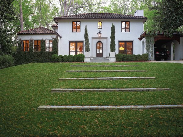 The family's 1920s Mediterranean-style manse is an eclectic example of the architecture found in Atlanta's elegant Buckhead neighborhood.