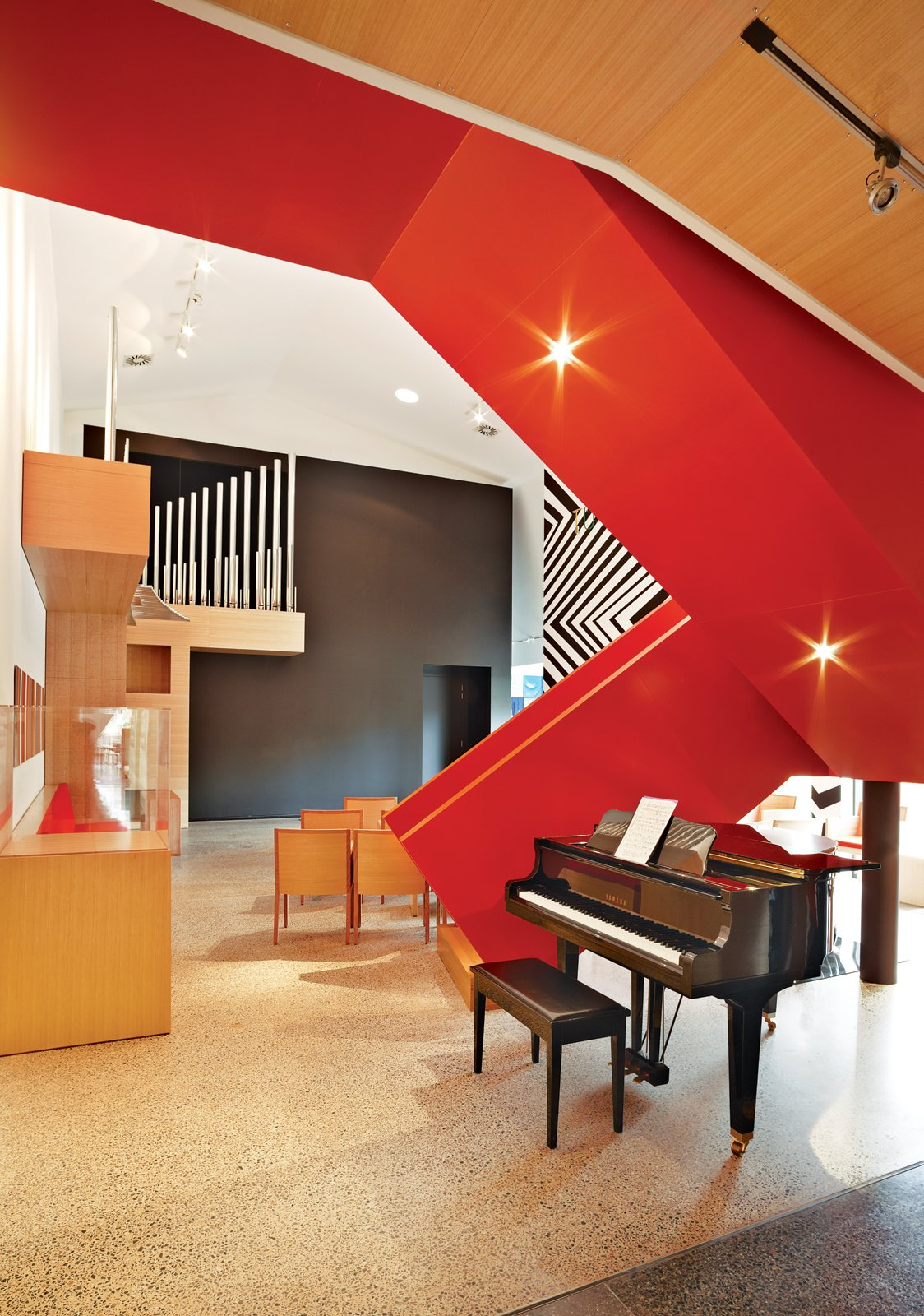 The entire family makes good use of the music room, where they hold public and private Sunday concerts with local and international musicians. Tagged: Staircase.  Photo 6 of 6 in Ever Wanted to Live in an Art Gallery?