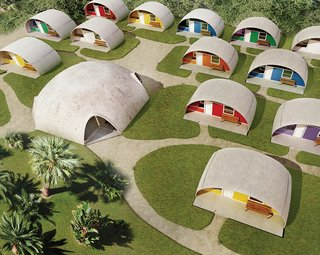 Low-Cost, Balloon-Formed Housing Concept for Developing Countries - Photo 1 of 1 -