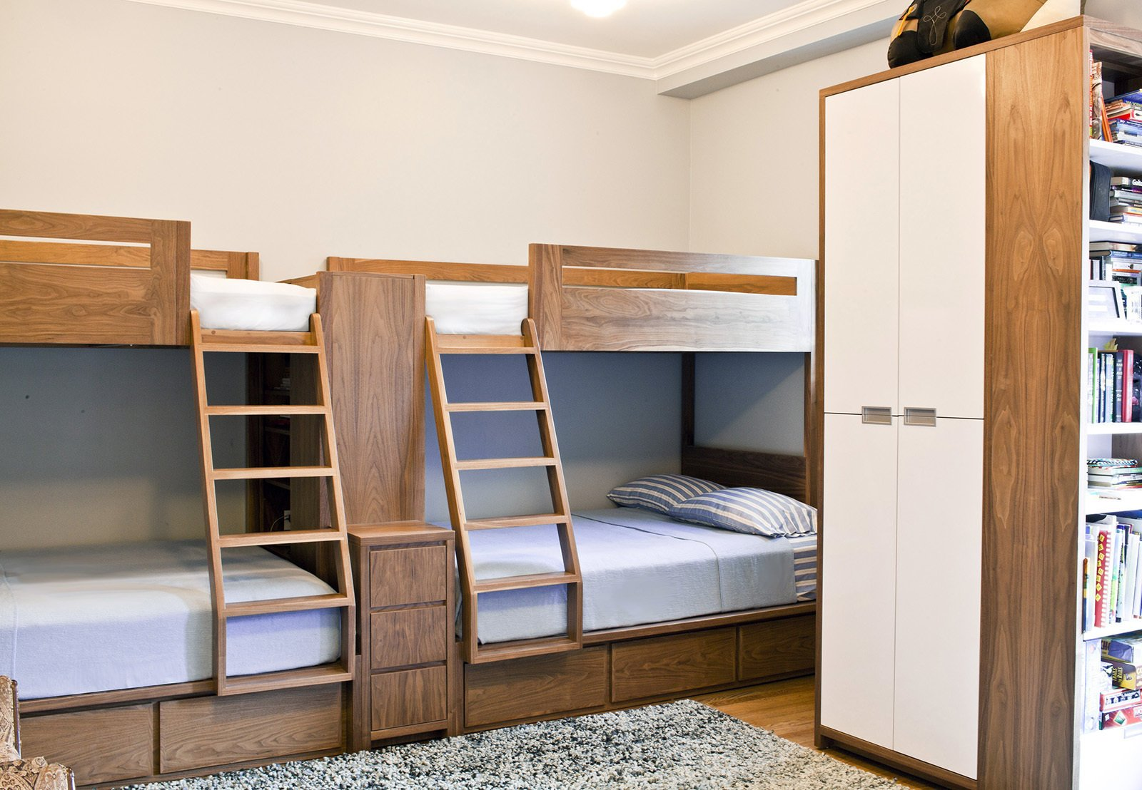 A Modern Kids Room With Custom Bunk Beds Collection Of 3