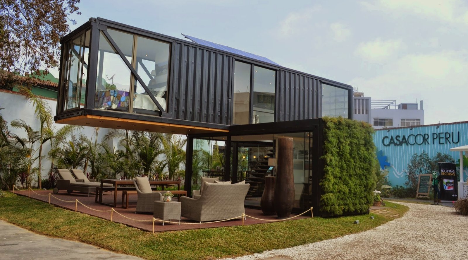 Peruvian-born designer Sachi Fujimori's Casa Reciclada, or Recycled House, was constructed from a used shipping container. Architects Anna Duelo, Úrsula Ludowieg OPhelan and Marc Koenig also collaborated on the project.  Amazing Examples of Shipping Container Architecture by Diana Budds from A Modern Show House in Lima, Peru