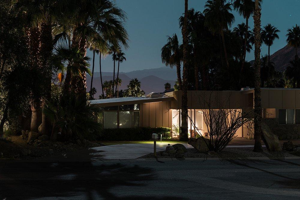 877 S Via Las Palmas, Palm Springs  Midcentury Modern Homes of Palm Springs Under Moonlight by Allie Weiss