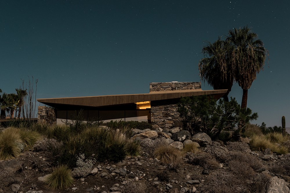 1030 West Cielo Drive, Palm Springs Midcentury Modern Homes of Palm Springs Under Moonlight by Allie Weiss