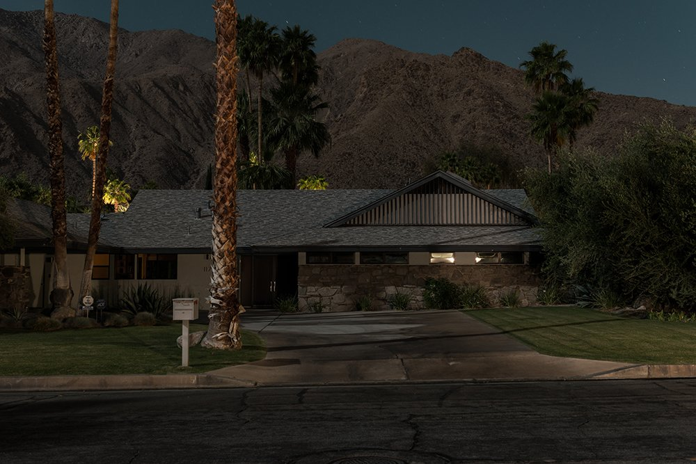 1175 N Monte Vista, Palm Springs  Midcentury Modern Homes of Palm Springs Under Moonlight by Allie Weiss