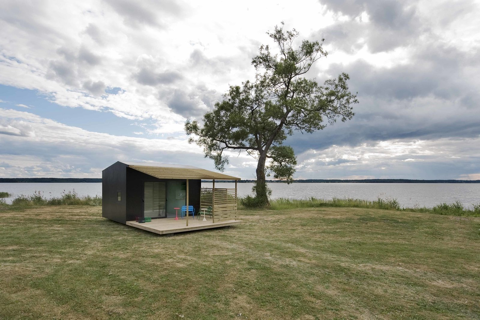 The roughly 160-square-foot modules, dubbed Mini House 2.0, were built in collaboration with Swedish manufacturer Sommarnöjen, and are delivered flat-packed. Tagged: Exterior and Cabin Building Type.  Photo 10 of 101 in 101 Best Modern Cabins