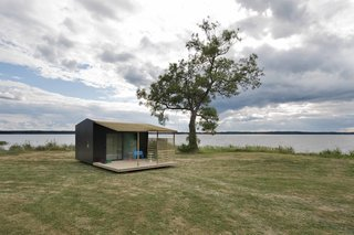 101 Best Modern Cabins - Photo 10 of 101 - The roughly 160-square-foot modules, dubbed Mini House 2.0, were built in collaboration with Swedish manufacturer Sommarnöjen, and are delivered flat-packed.