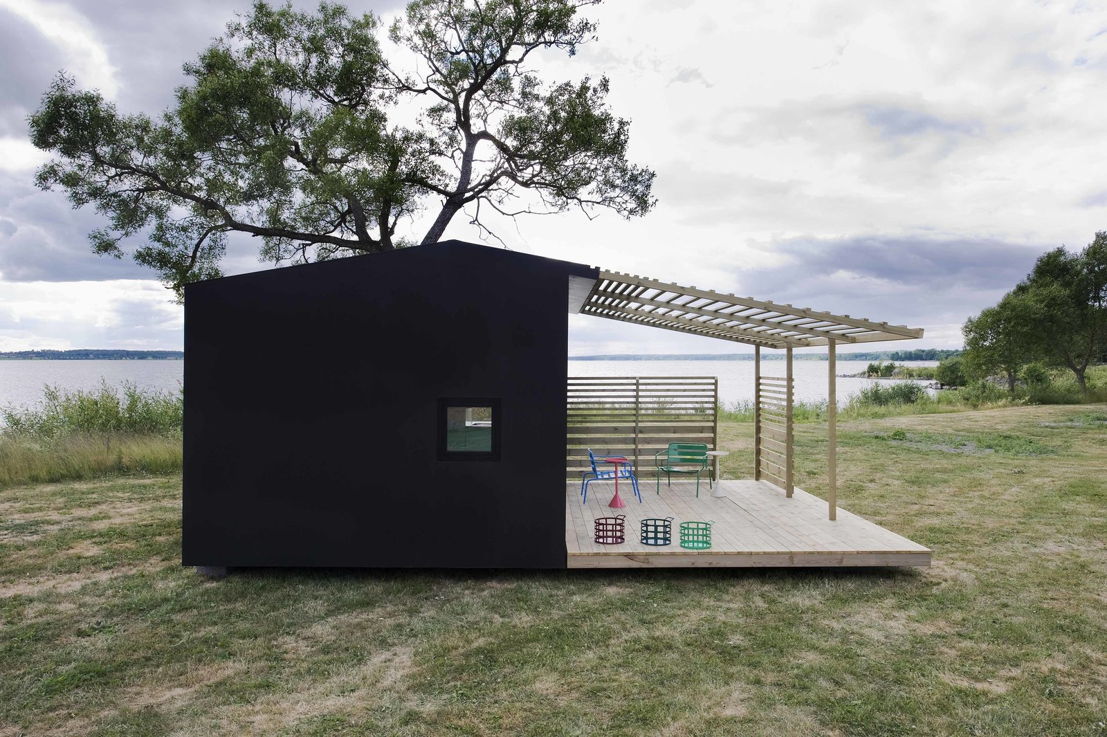 The homes are built on a concrete foundation and are typically constructed in only two days. Tagged: Exterior, Prefab Building Type, Cabin Building Type, Shed Building Type, and Shed RoofLine.  Tiny Homes  by Erika Heet from Tiny Prefabricated House Can Be Built in Two Days