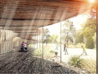 Sustainable Modern School Planned for Rural Mexico - Photo 1 of 5 -