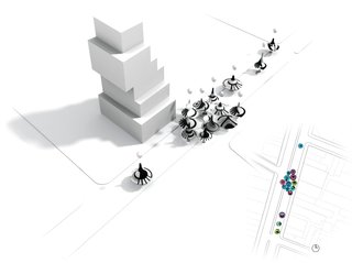 Natasha Jen - Photo 1 of 4 - FUNnel Vision was a joint proposal imagining 'spinning tops' as temporary tent structures for the New Museum's Festival of Ideas for the New City in 2011. Njenworks (the firm Jen operated before joining Pentagram) designed the proposal with experimental architecture practice SOFTlab.