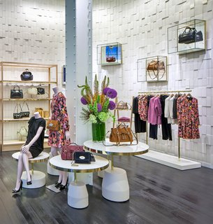 British Brand Mulberry Opens S.F. Outpost - Photo 1 of 3 - The entrance to Mulberry's Grant Avenue boutique is colorful with local blooms and their latest handbag collection. Photo courtesy of Mulberry.