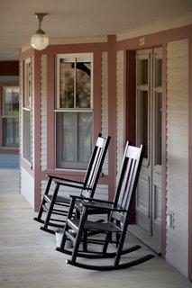 Porches Inn, North Adams, Massachusetts - Photo 4 of 21 - Lined with antique rocking chairs, the space has a laid-back summer camp quality that seems to extend through the seasons.