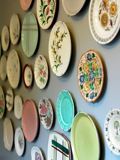 Porches Inn, North Adams, Massachusetts - Photo 18 of 21 - Part of an ongoing motif, vintage and thrifted plates are set up throughout the interior of rooms and in several of the hallways.