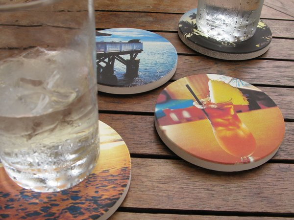 Images are printed by an American manufacturer on a sandstone aggregate.