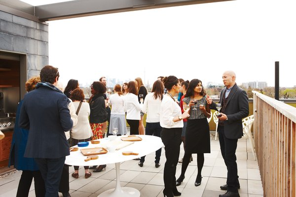 At a recent gathering, a reception for the staff and friends of the Ryerson Image Centre, a photography gallery and research facility set to open in Toronto in late September, guests mingled on Montague's 1,600-square-foot roof deck and admired his collection of contemporary art.