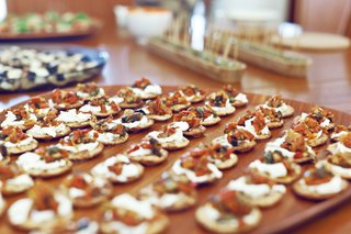 Carefully decorated hors d'oeuvres.