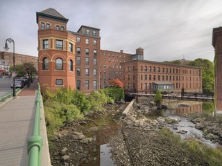 Baker Chocolate Factory, Dorchester Lower Mills, Dorchester, Massachusetts. Photo by Andy Ryan.