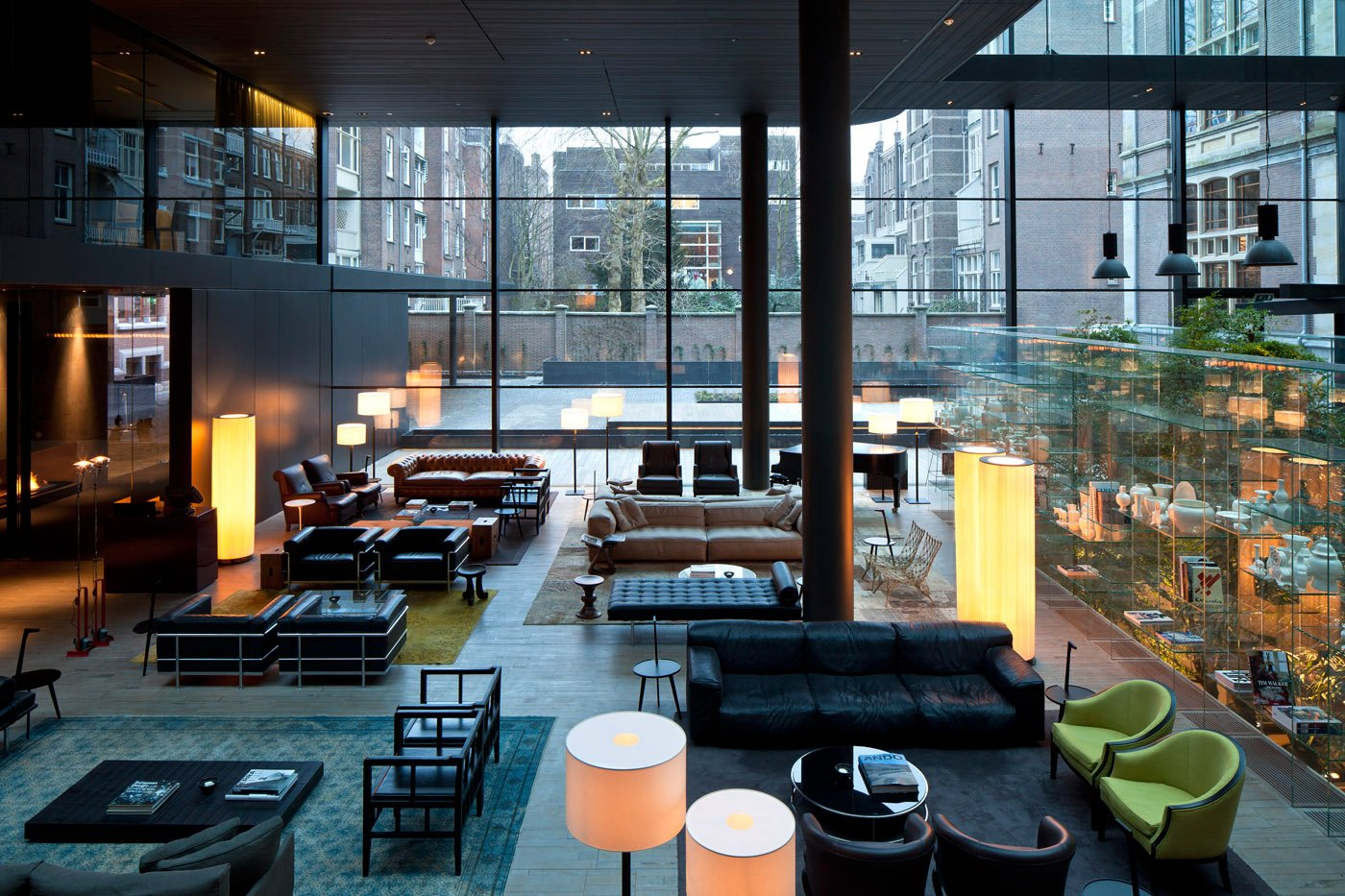 The Conservatorium is outfitted with furniture by Cassina, Kartell, and Living Divani.  Places to go by Lara Deam from The Conservatorium, Amsterdam
