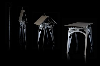 Hideaway Furniture by Folditure - Photo 4 of 4 - The Cricket table folds up when not in use.