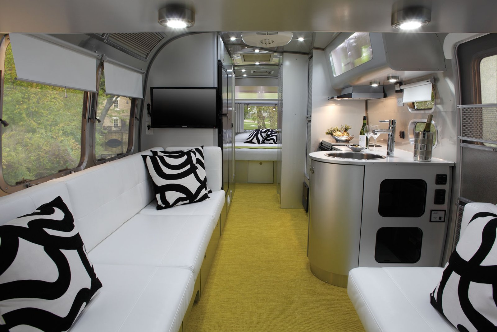 Architect Christopher C. Deam, Dwell founder Lara Deam's husband, designed Airstream's newest travel trailer, the International Sterling.  8 Ways to Renovate an Airstream by Erika Heet from Airstreams We Love