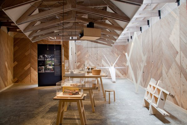 Here's the interior of Finnish pavilion featuring an exhibition of young finish architects curated by Juulia Kauste.