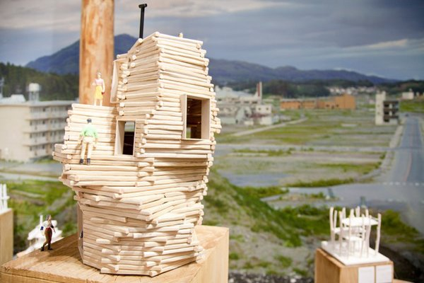 """The Japanese pavilion curated by Toyo Ito launches a program to provide a """"Home for All"""" to people who lost their homes in Japan's March 2011 tsunami. The exhibition presents the process models by three young Japanese architects: Kumiko Inui, Sou Fujimoto, and Akihisa Hirata."""