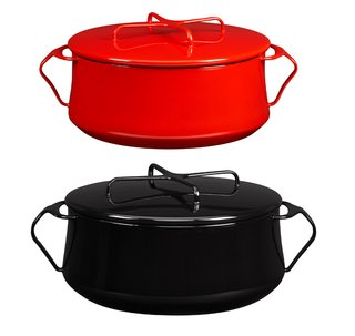 Modern Cookware, Old and New - Photo 4 of 4 - Top: Red 4-quart Kobenstyle casserole, $99.95 (on sale!). Bottom: Black 6-quart Kobenstyle casserole, $119.95 (also on sale!).