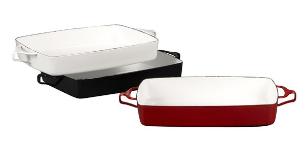 Kobenstyle large bakers in white, black and red, $99.95 each.
