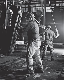 Homeland Ingenuity - Photo 8 of 8 - Workers in the foundry manufacturing center at Kohler headquarters in Wisconsin start on the first step in the cast-iron process. Photo courtesy Kohler Company.