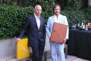 Benedikt Taschen (left) and Marc Newson (right) at the Beverly Hills launch of Marc Newson: Works.