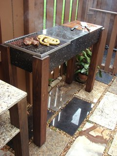 Reader DIY: A Modern Granite Grill - Photo 10 of 11 - The finished product in action, in Marques' backyard.
