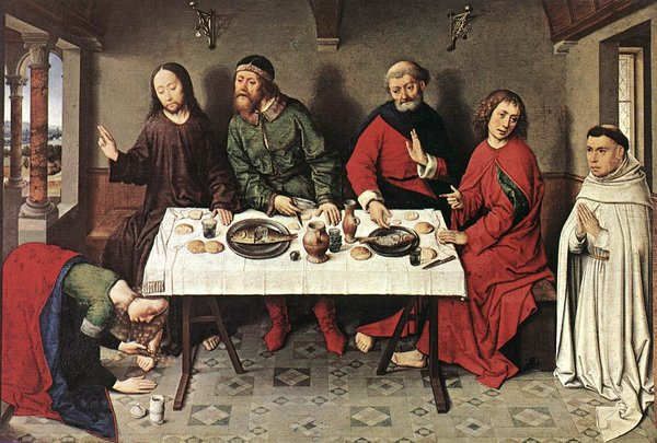 The painting that started it all. Christ in the House of Simon by Dieric Bouts, c. 1475.