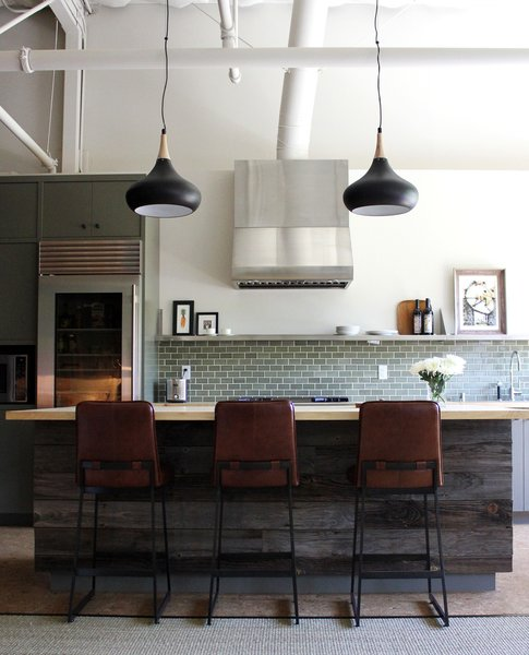 This photo is one of DISC interiors projects, a rustic-meets-industrial loft in Sonoma, California.