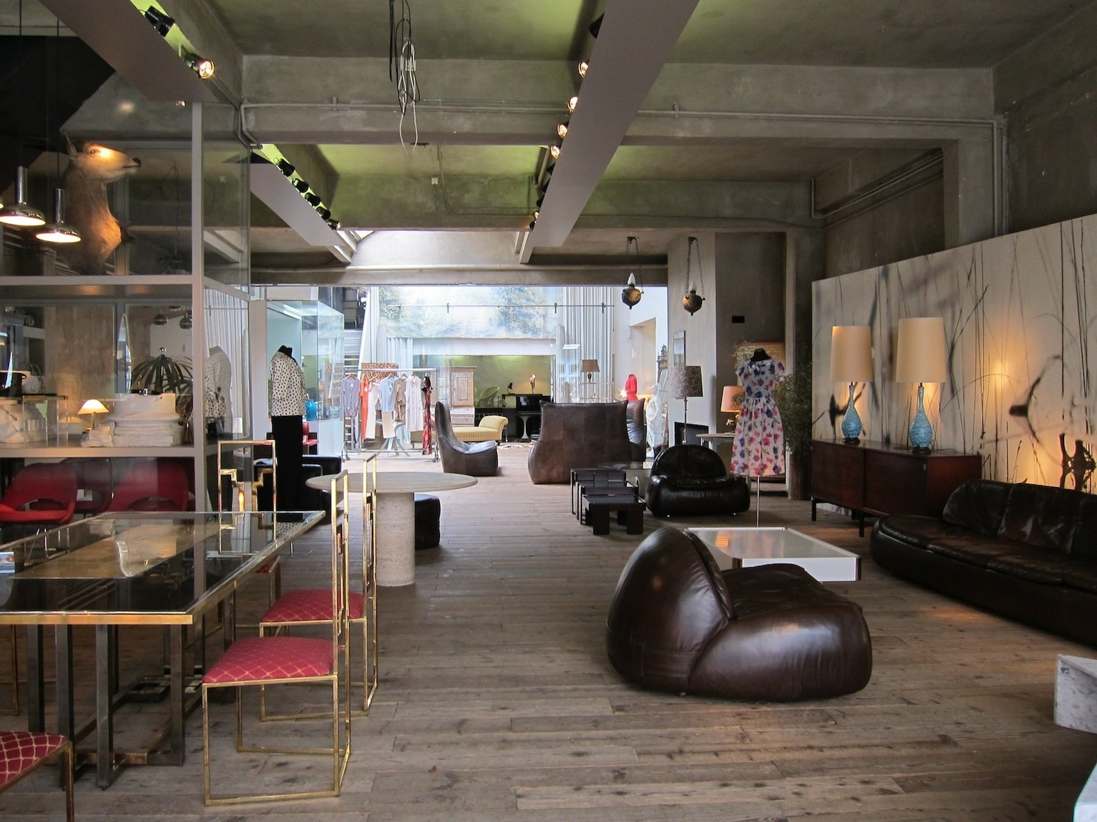 The shops on Kloosterstraat vary from tiny cubbyhole galleries to vast loft-like spaces like this one, an emporium called Viar that sells clothing, accessories, and great vintage furniture.  Best of Belgium: Three Days in Antwerp by Jaime Gillin