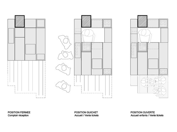 The various iterations of the kiosk, depending on the event for which it's to be used.