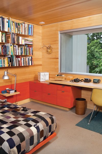 James's bedroom furniture was custom designed by Hatch Workshop.